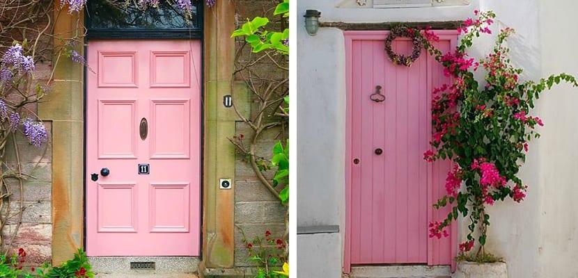 Puertas rosas
