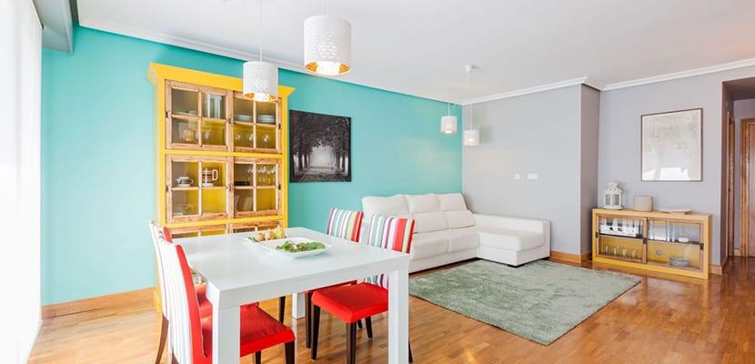 Salón comedor en color
