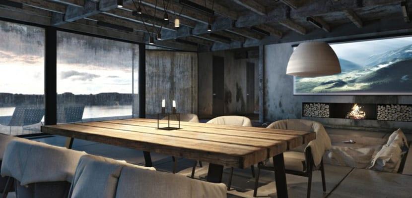 Salón comedor industrial