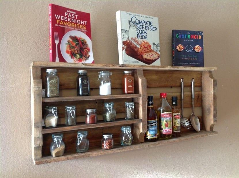 cajas de madera de estante