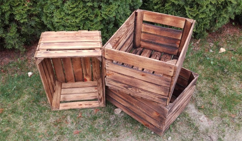 cajas de madera sin decorar