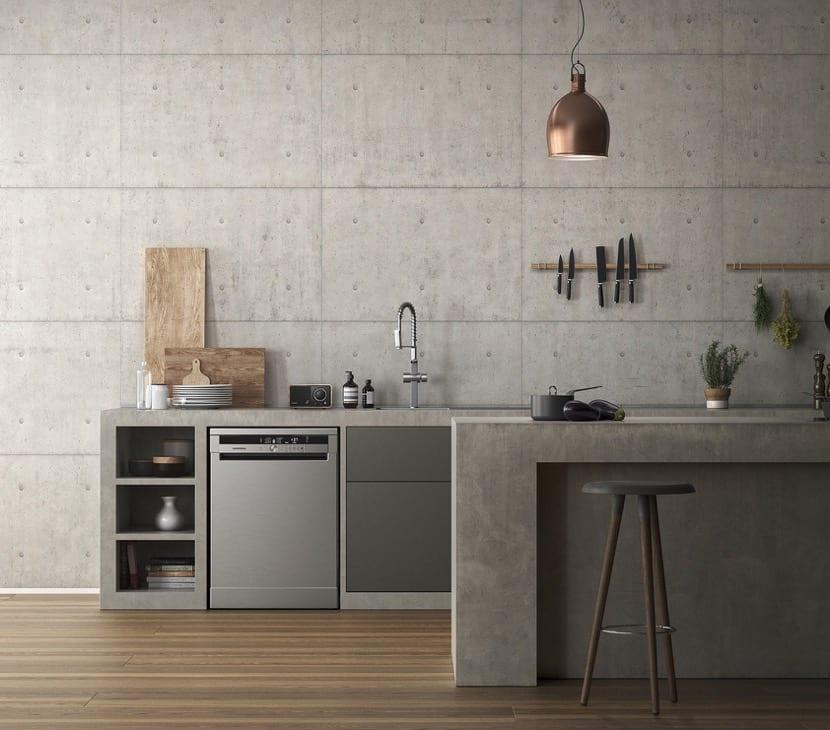 cocina industrial en el hogar