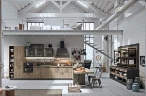 cocina industrial en el atico