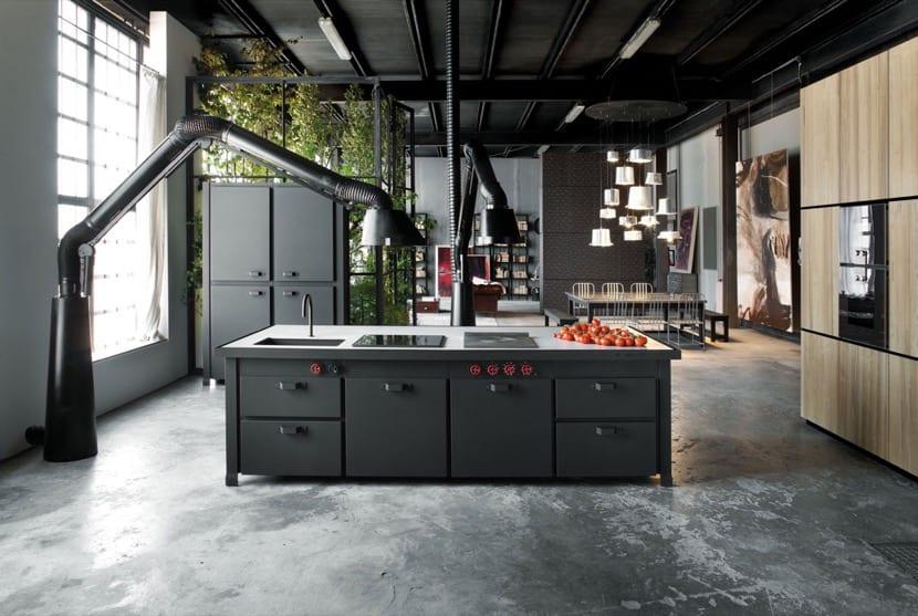 cocina industrial oscura