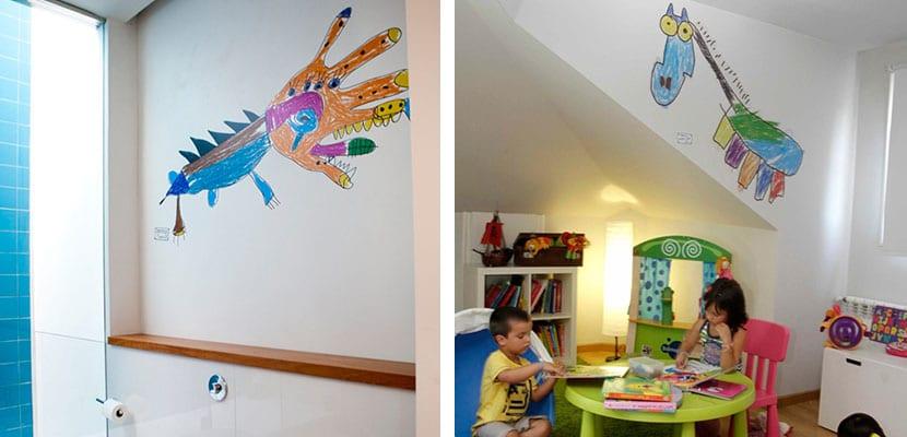 Dibujos en las paredes