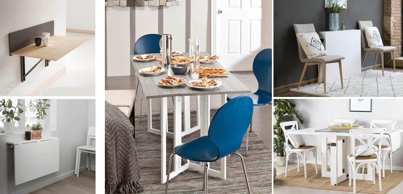 Mesas de cocina plegables para ahorrar espacio