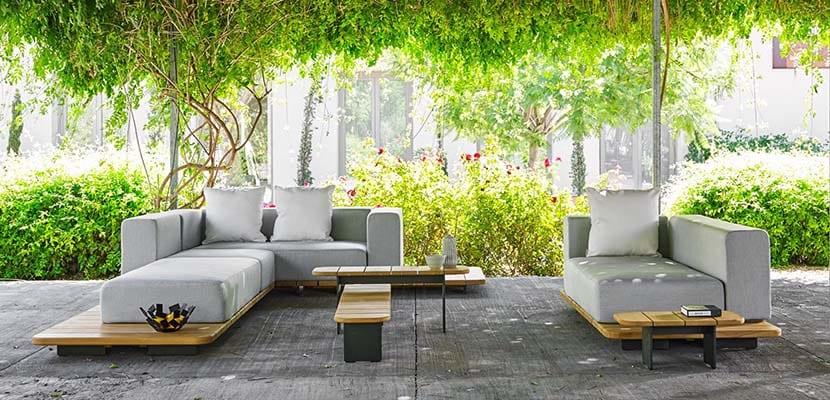 Muebles de terraza estilo natural