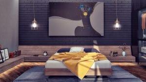 iluminar estancia de paredes oscuras