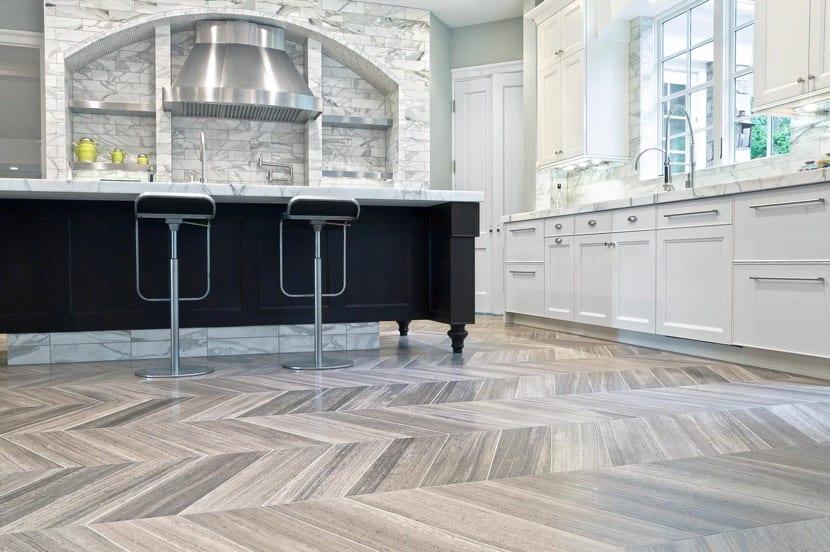 suelo de cocina en vinilo