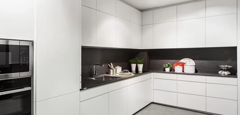 Cocina de diseño en esquina