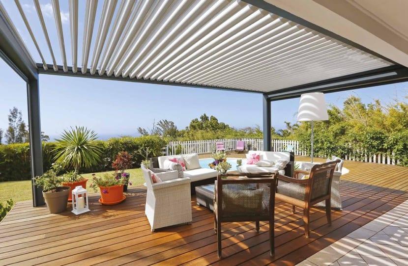 cubierta de madera para una terraza