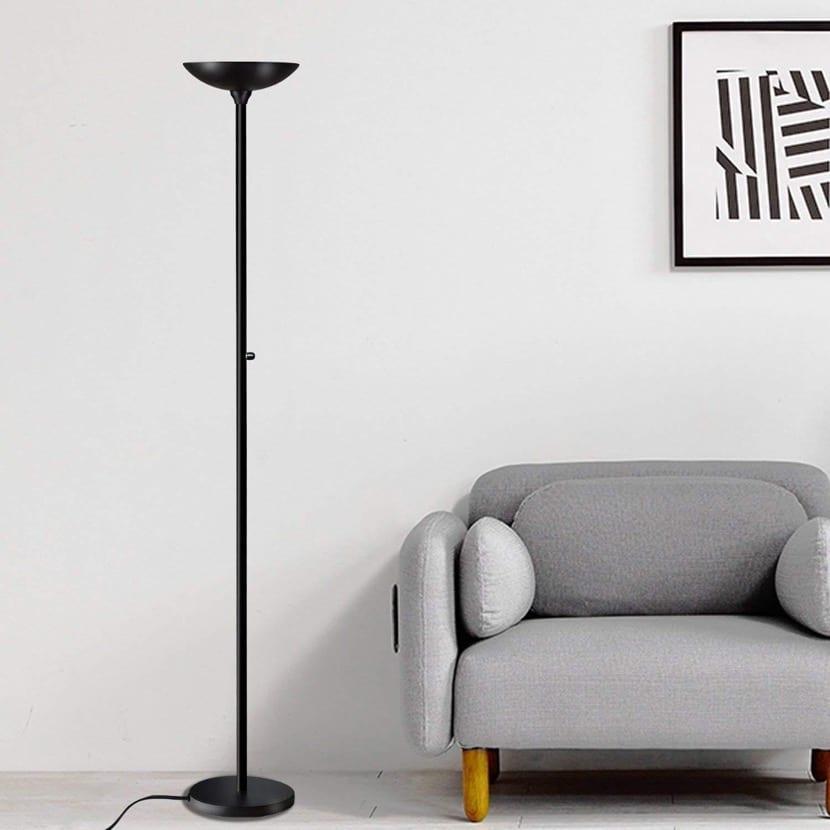 lampara de ikea en negro