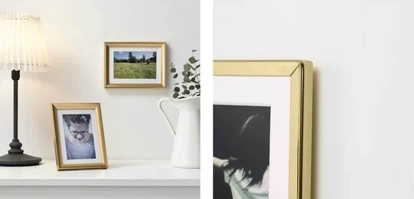 Marcos de fotos dorados