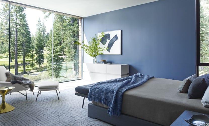 azul en la decoración zen