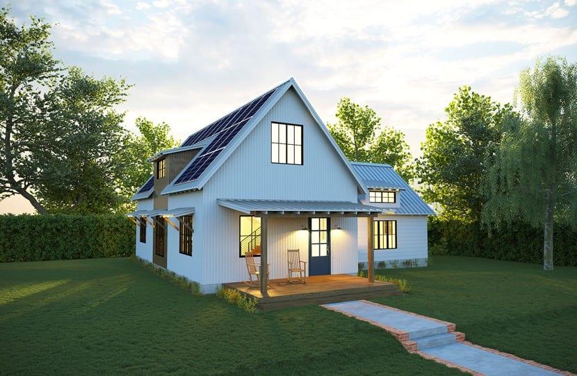 casa eficiente con placas solares