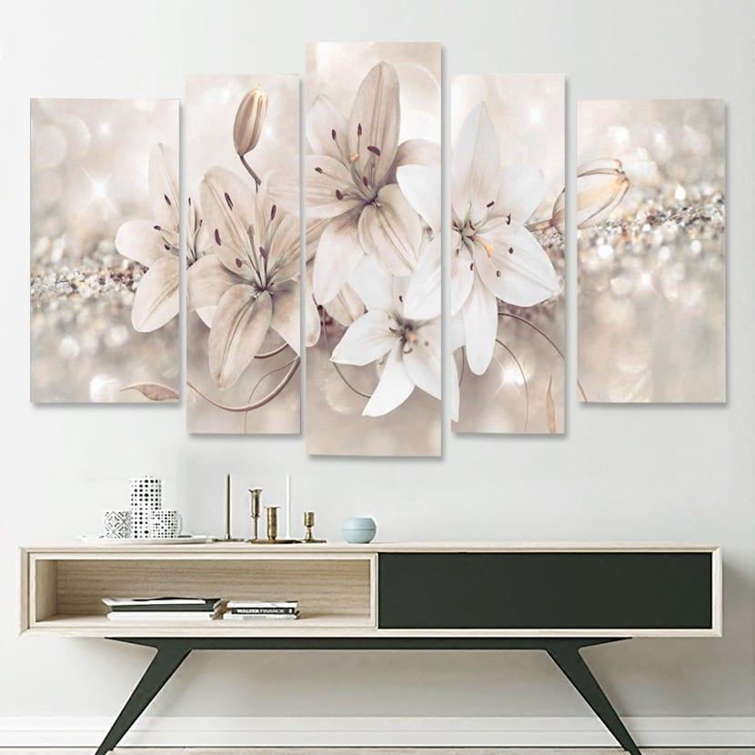 decoracion con estampado de flores