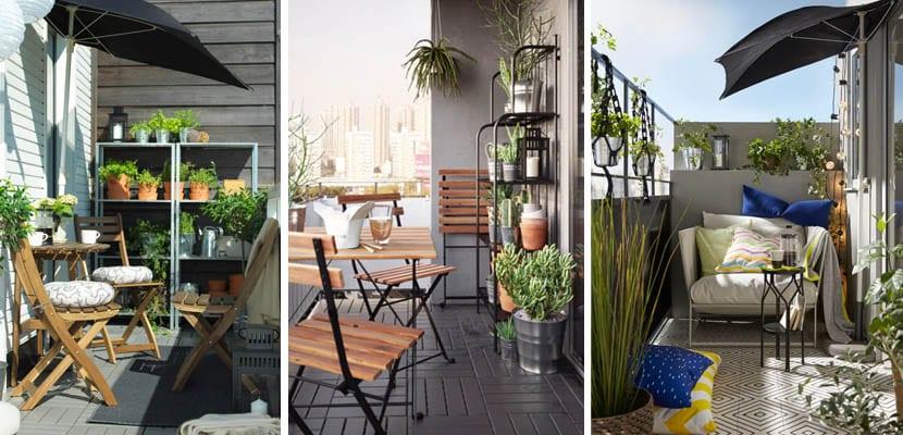 Muebles para balcón de Ikea