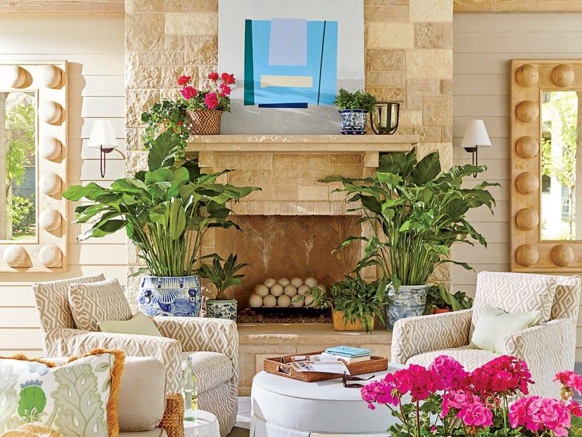 decoracion en el hogar durante el verano