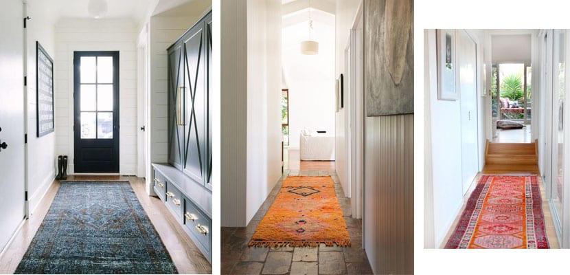 Pasillos con alfombra