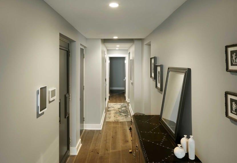 iluminacion en el pasillo