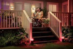 iluminacion en el porche