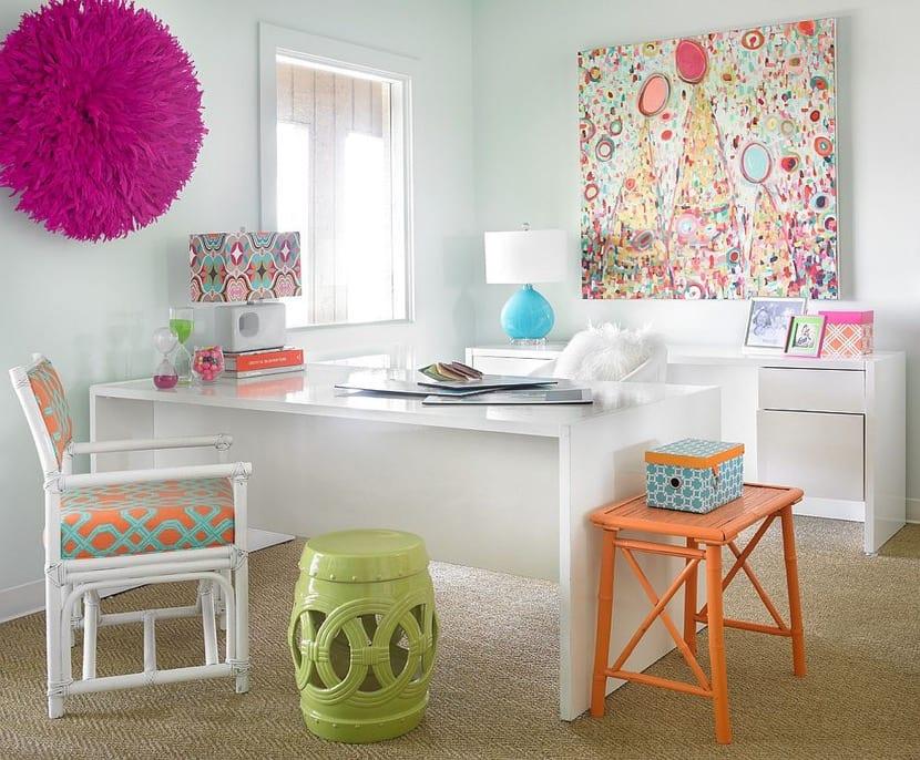 oficina en casa colores neutros