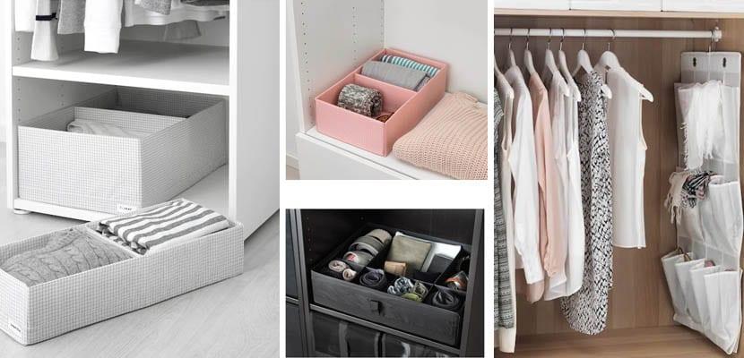 Accesorios para organizar armarios de Ikea
