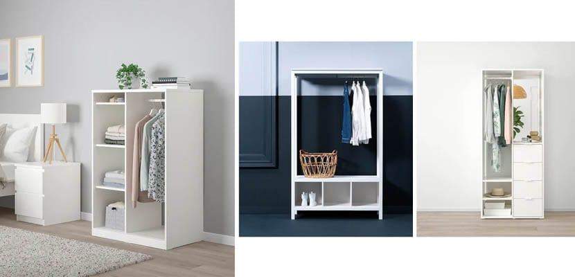Armarios abiertos de Ikea