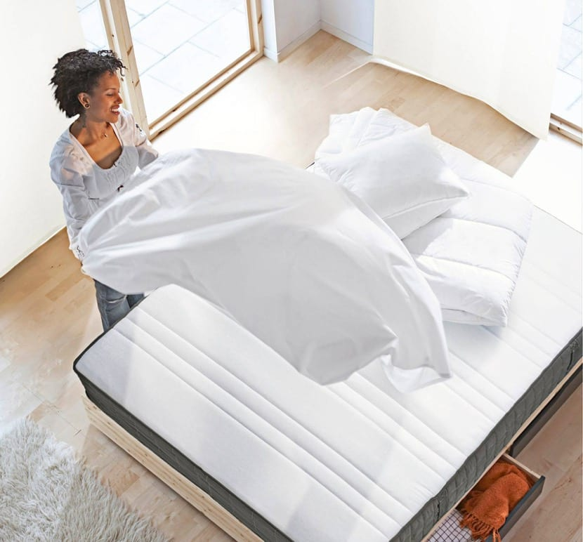hacer la cama con colchones de ikea