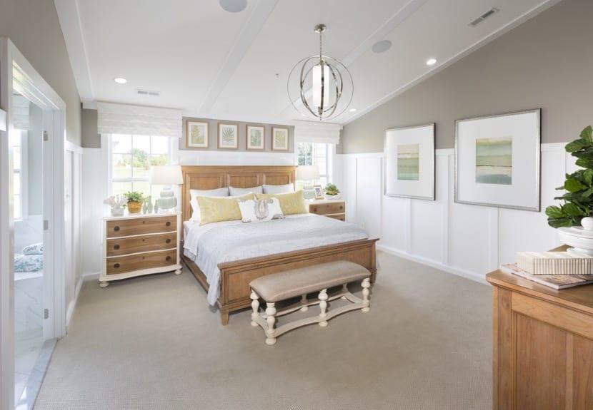dormitorio con buen feng shui