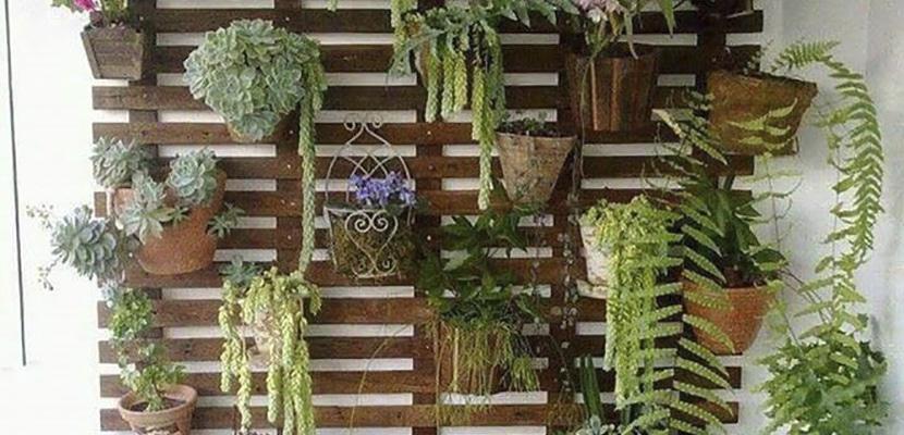 Palets jardineras