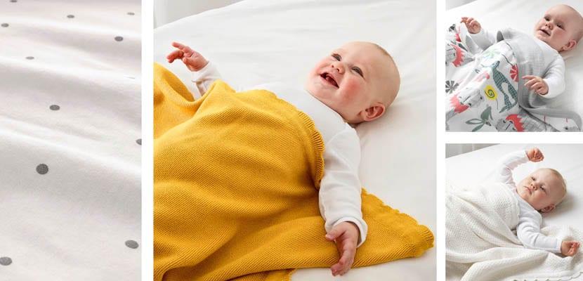 Sabanas y mantas para minicuna de Ikea