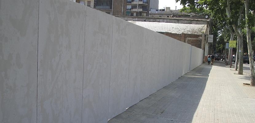 Valla de cemento