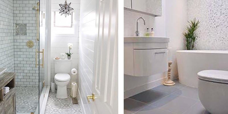 Baños en color blanco