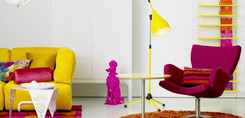 Lámparas coloridas