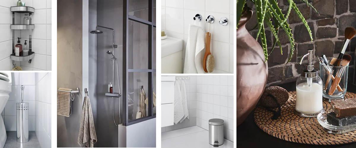 Accesorios de baño de Ikea en acero inoxidable