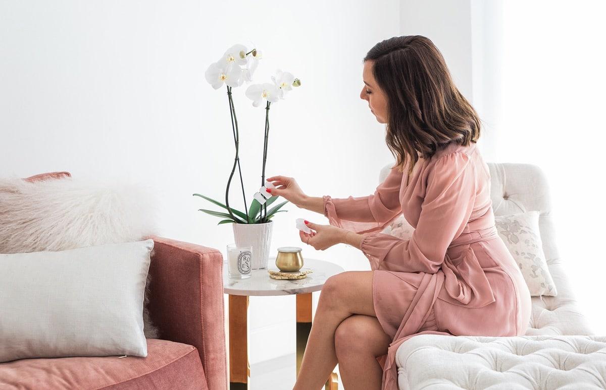 decorar el hogar con orquideas