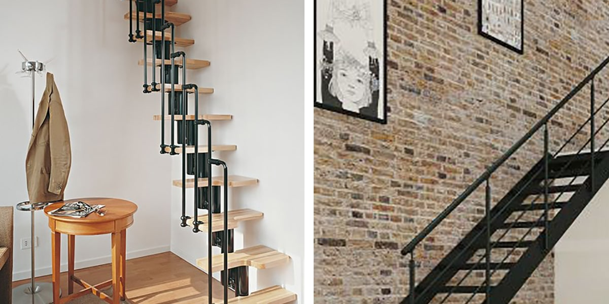 Escalera de buhardilla moderna