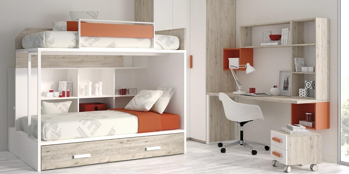 Habitaciones tonos naranjas