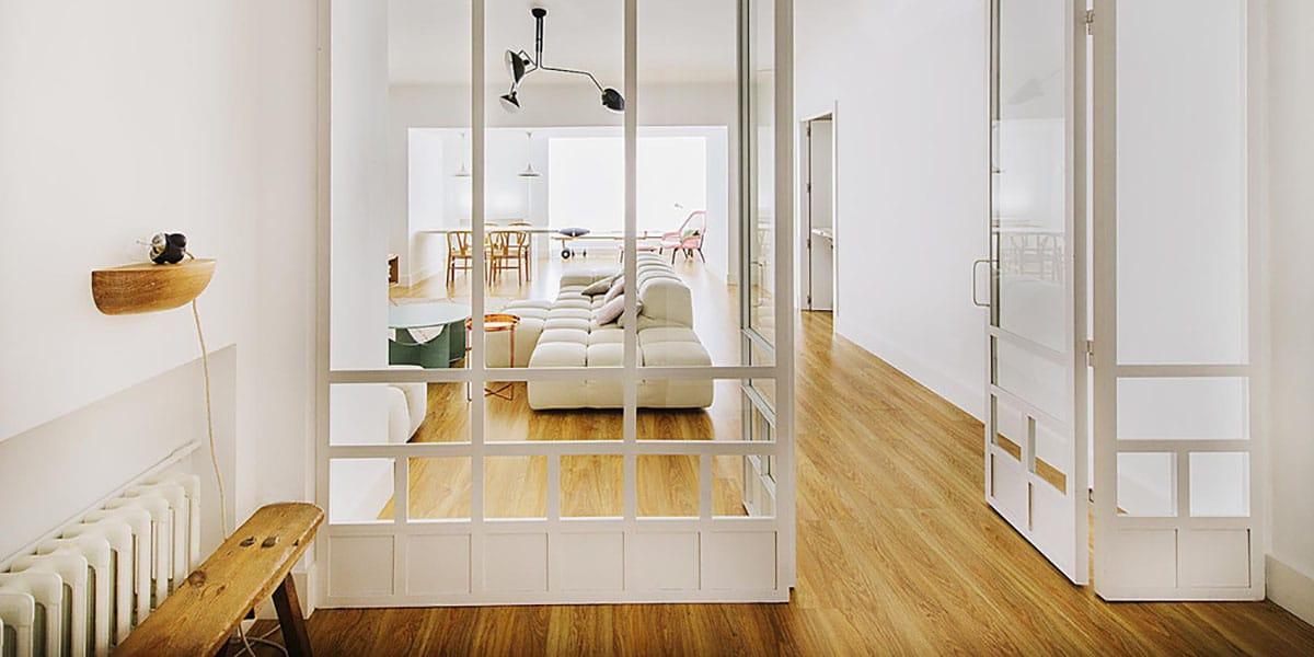 Puertas de cristal con madera