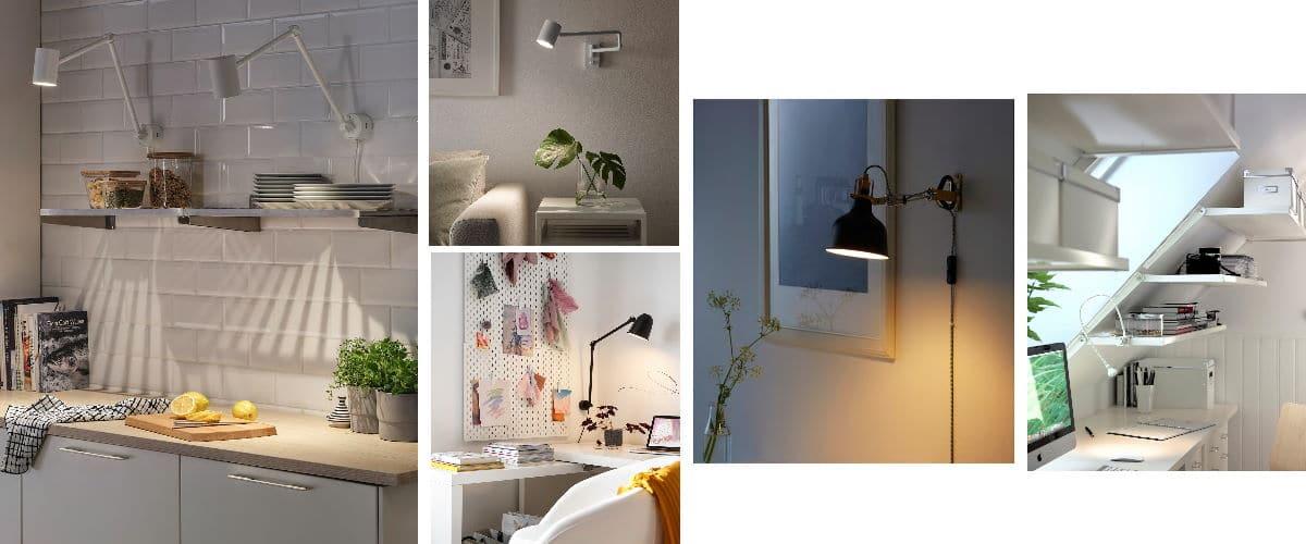 Lámparas de pared de Ikea