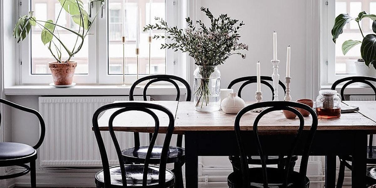 Mesa en estilo escandinavo