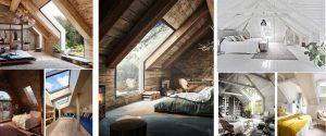 Buhardillas de madera: dormitorios