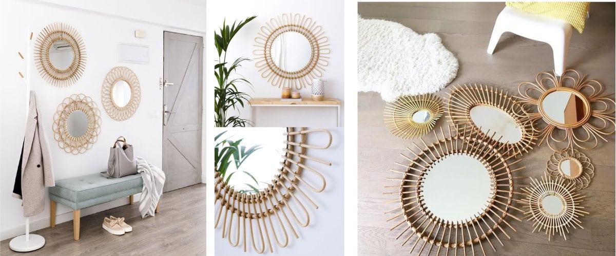 Espejos de bambú