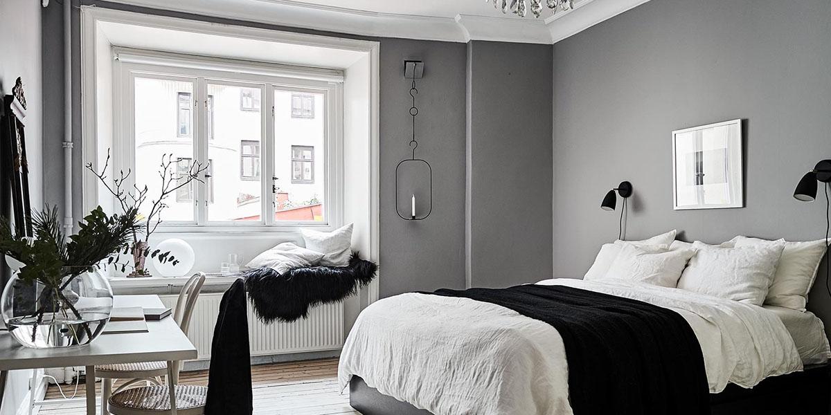 Dormitorios en blanco y negro