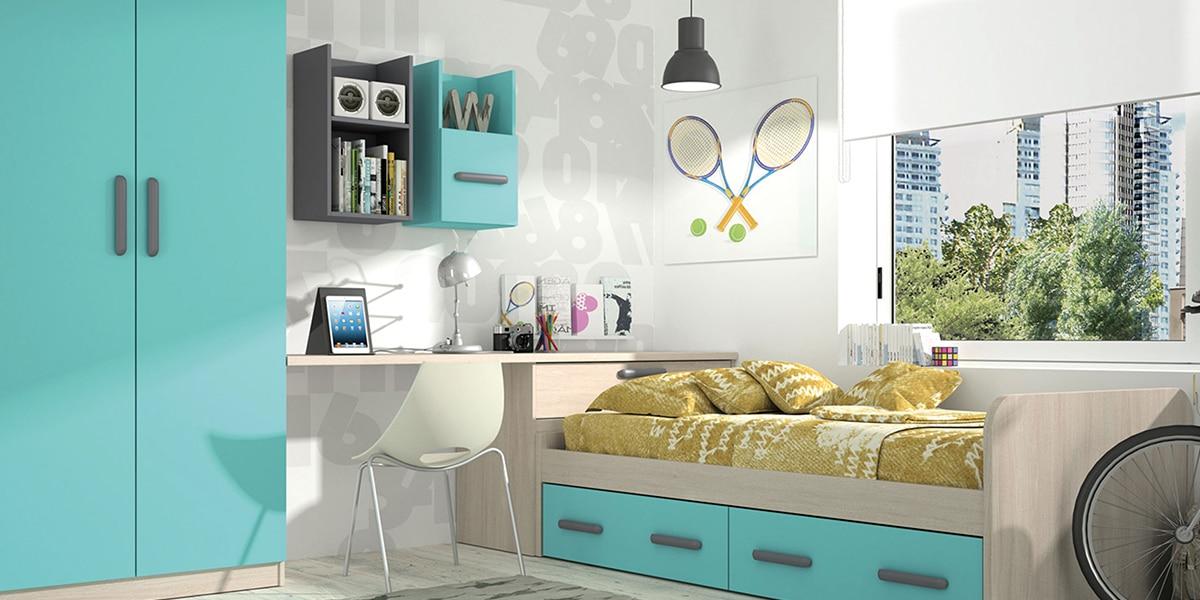 Colores vivos en el dormitorio