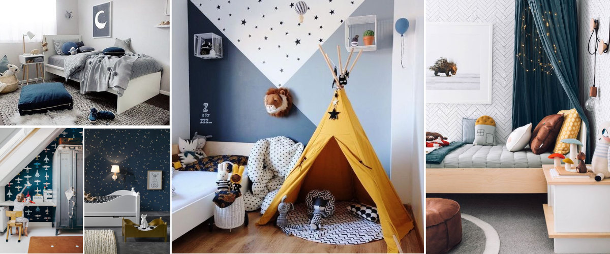 Dormitorios para niños azules