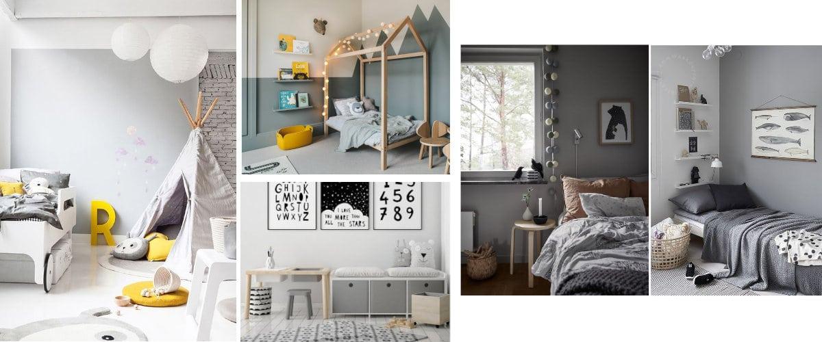 Dormitorios infantiles en color gris