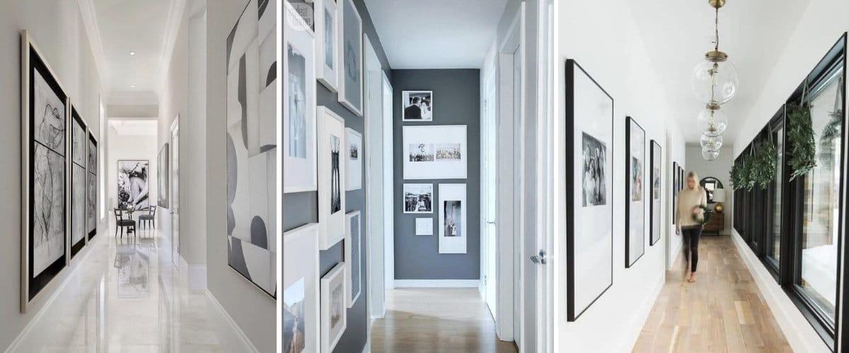 Galeria de arte en el pasillo