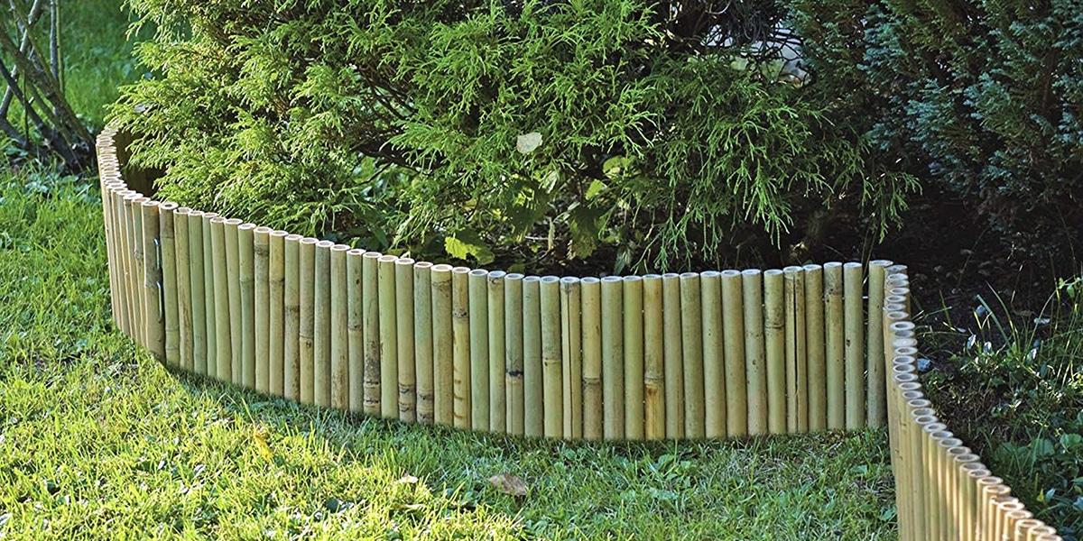 Jardineras con bambú